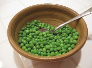 Peas for dinner